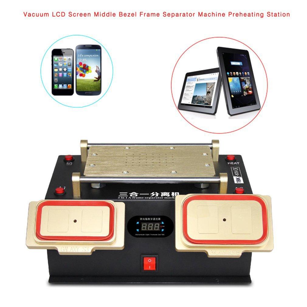 3 in 1 Vacuum LCD Touch Screen Separator LCD Repair Tool Preheater For Samsung