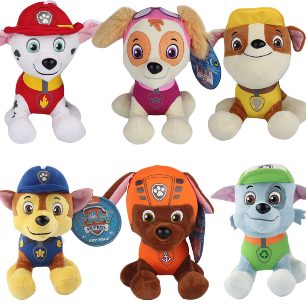 New 20cm Puppy Paw Patrol Dogs Plush Toys for Children Gift for Boy Girls