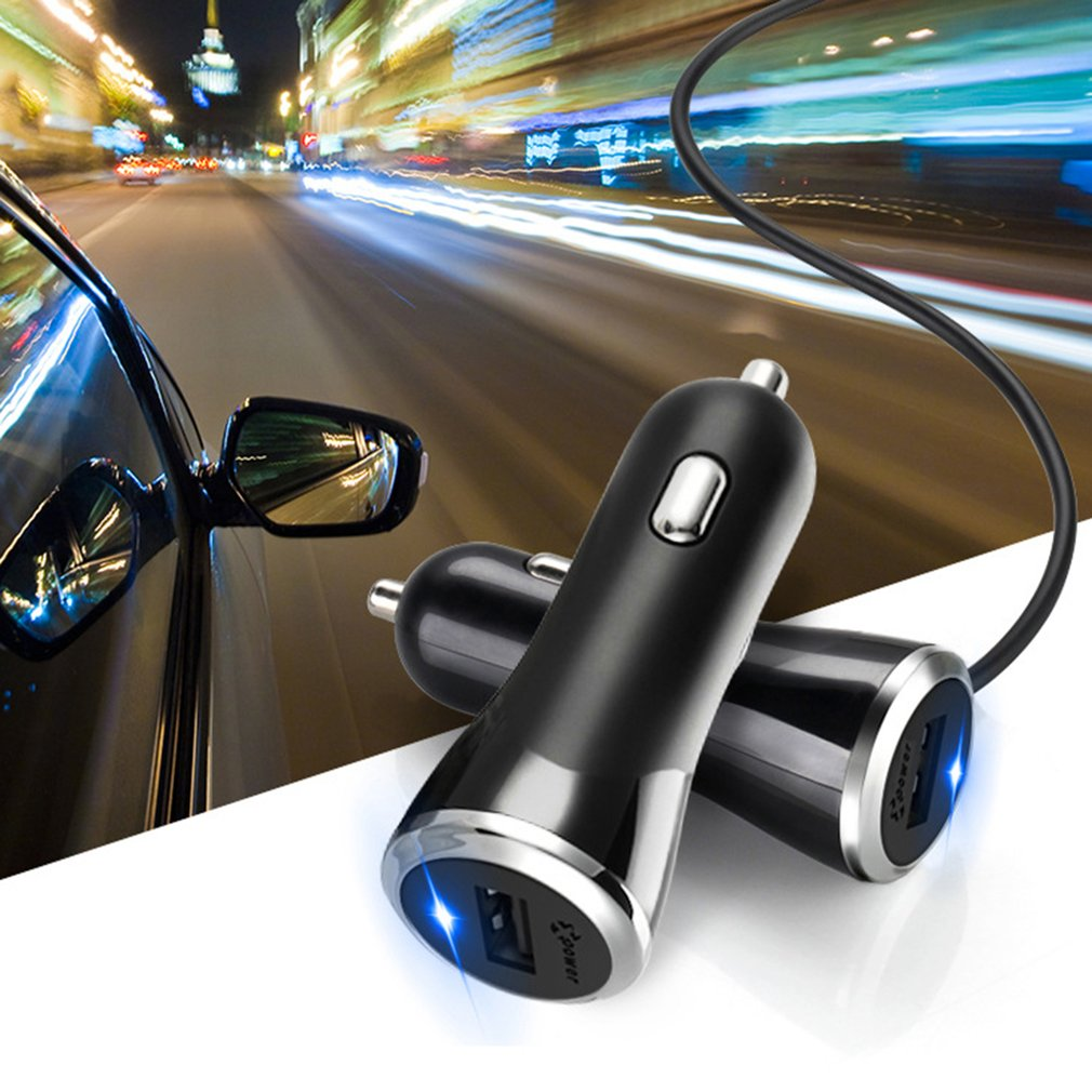 Portable E2A Car Charger 3.1A Single USB Port with Three Data Cables Interface
