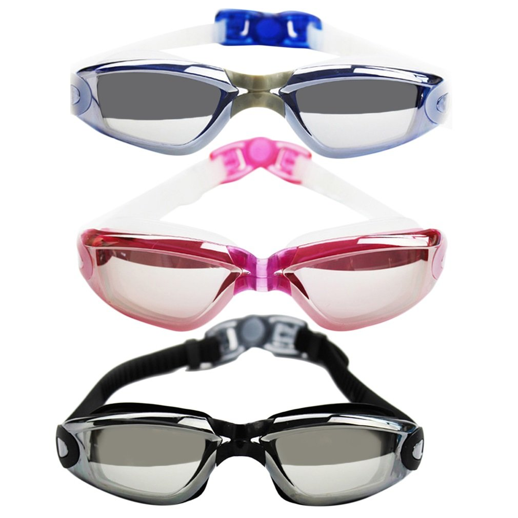 Plating Myopia Swimming Goggle Glasses Submersible Mirror Anti-fog Eyewear
