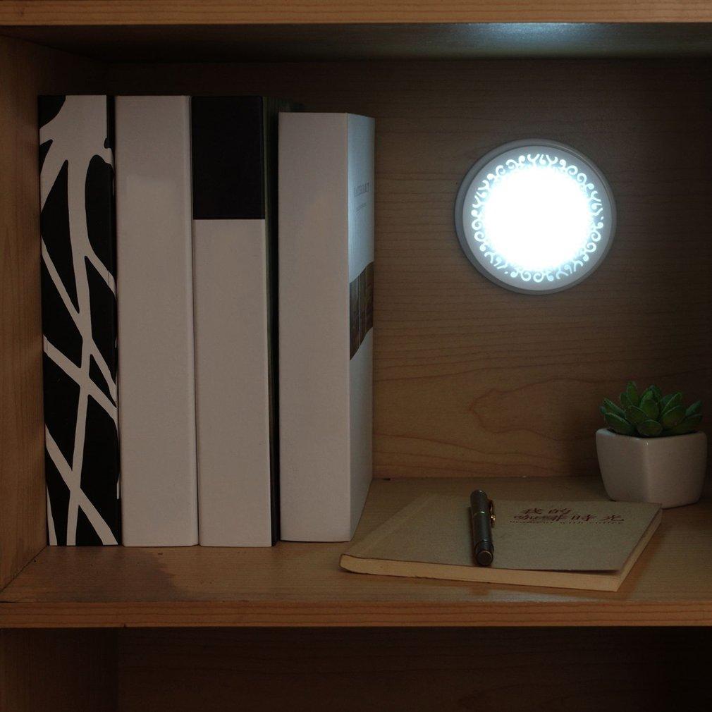 Stylish LED Night Light Round Induction Light Battery Powered Emergency Lamp