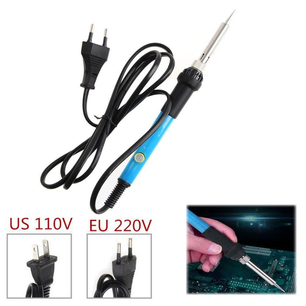 Intelligent Thermostat Electric Iron Adjustable Temperature Fast Heating Welding Soldering Iron Tool with LED Indicator