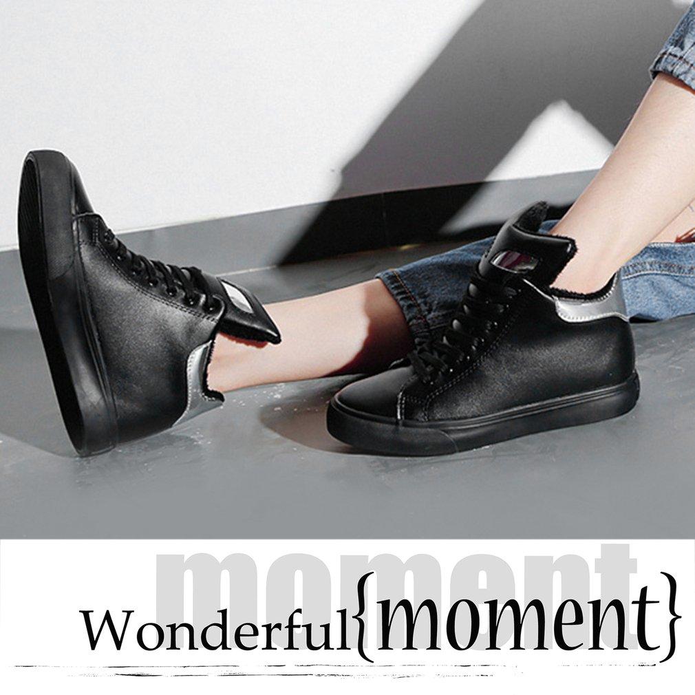 Renben Female Cotton Short Tie Boots Plus Velvet Increasing Higher Within