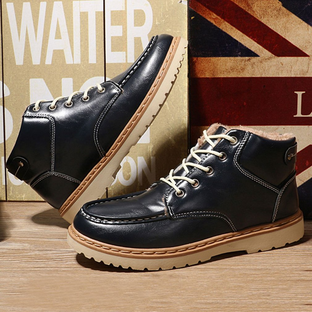 Men Shoes Fashionable British Style Thickened Shoes High-top Leather Shoes