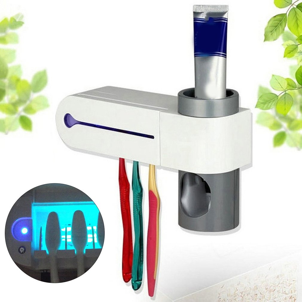 UV Disinfection Automatic Toothbrush Steriliser with Toothpaste Dispenser