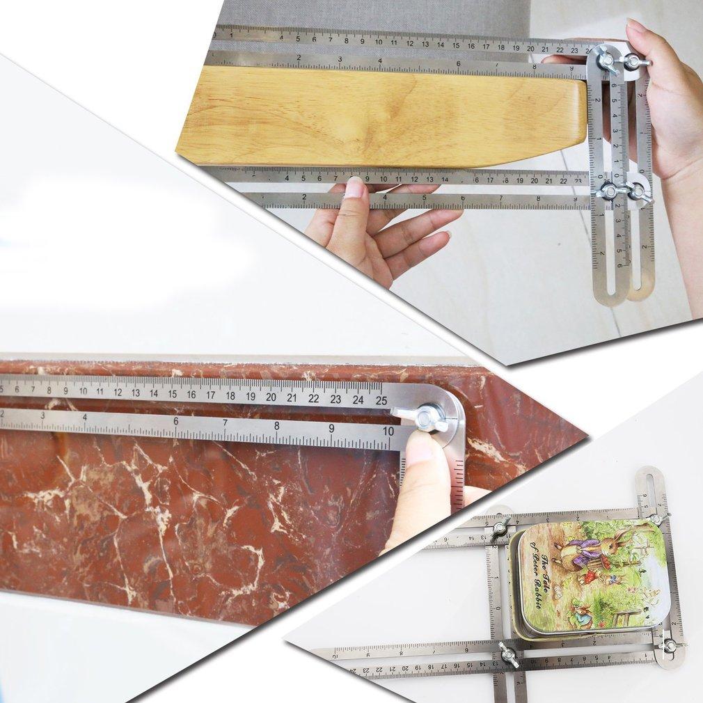Multi-function Four-Sided Folding Multi-Angle Measuring Tool Adjustable Ruler