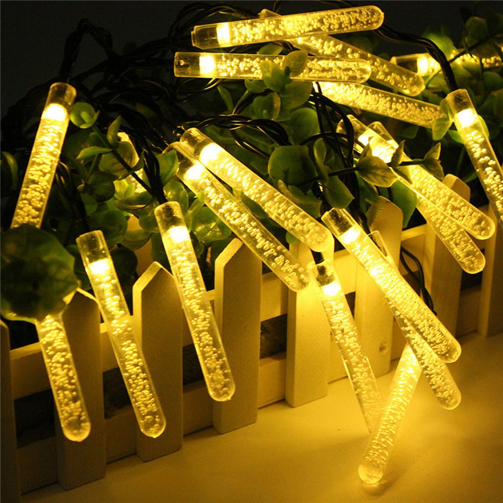 20 LED Bubble Lamp Post Solar Light String Home Holiday Party Decoration Light