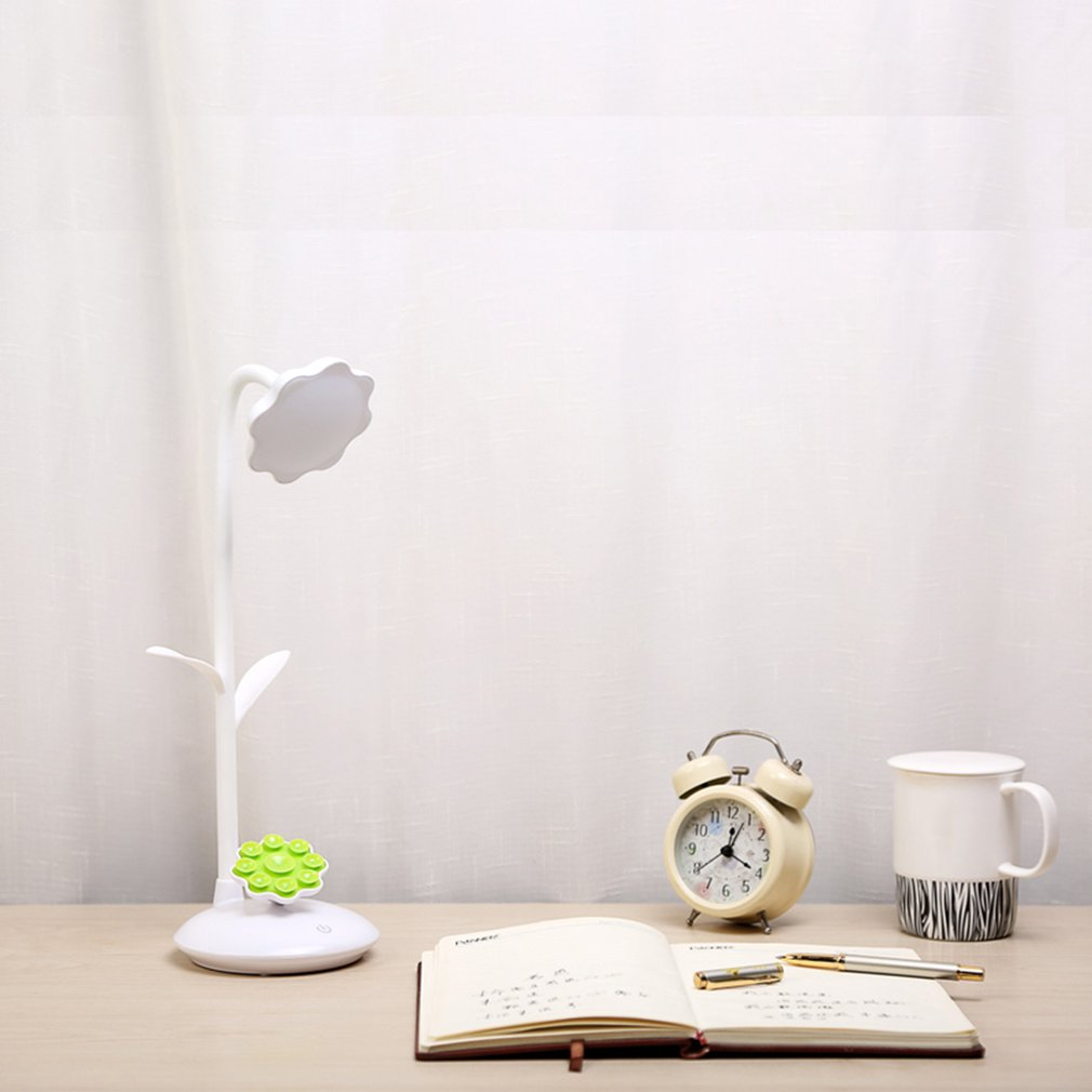 USB Rechargeable Children Study Lamp Eye Protective Light With Phone Support