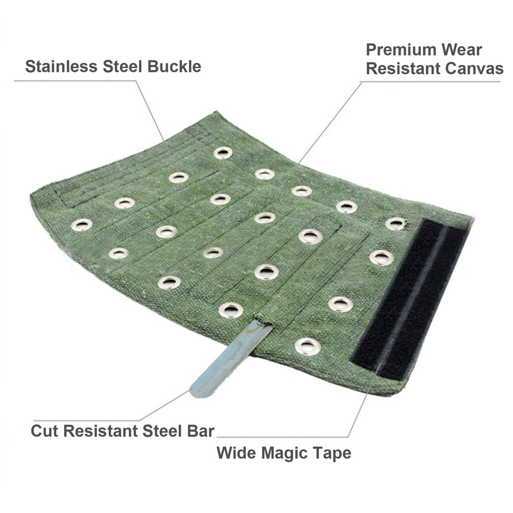 Cut Resistant Protection Sleeve Canvas Arm Safety Guard Armband Bracer