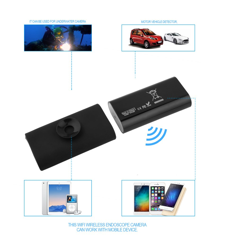 High Quality Newest USB WIFI Endoscope Suitable For Android Suitable For ios