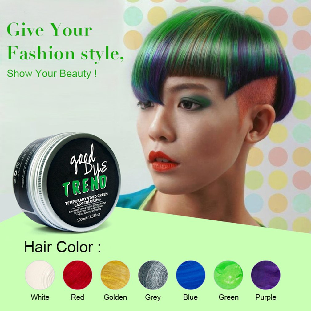 PURC Disposable Hair Cream Men Styling Pomade Stained Hair Styling Wax