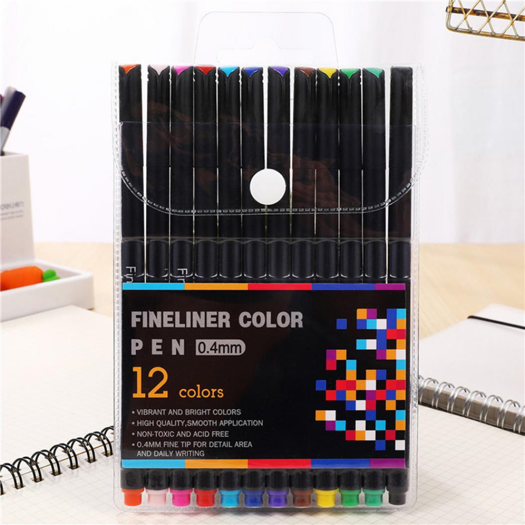 12/24/36/48/60 Colors Watercolor Art Painting Sketching Drawing Marker Pens