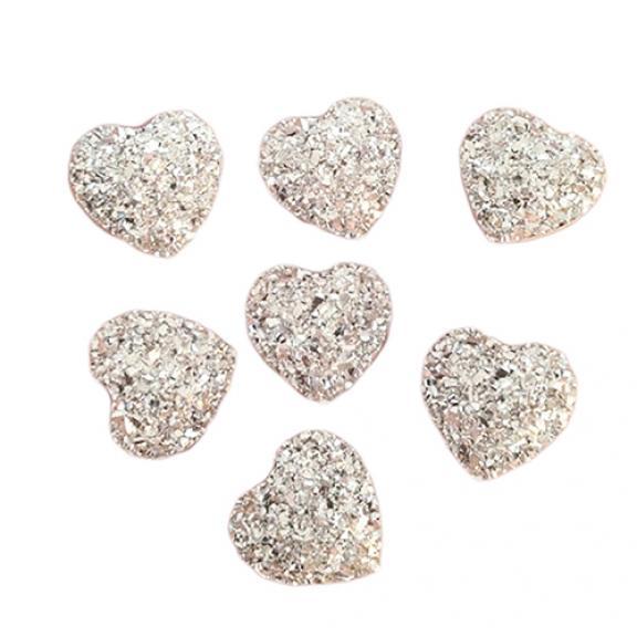 20Pcs Heart Flatback Resin Rhinestones for DIY Scrapbooking Phone/Wedding/Craft