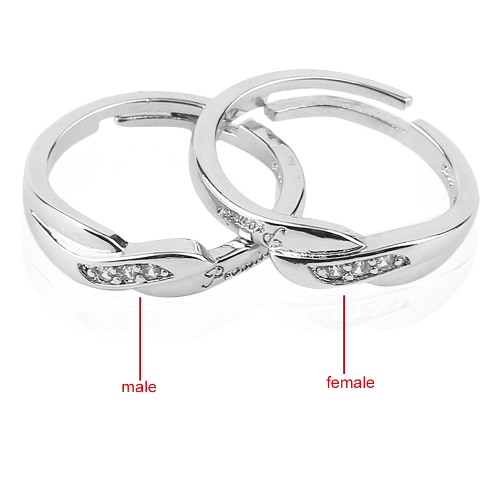 Men Women Lovers Ring Open Letter Decoration Wedding Engagement Ring Jewelry