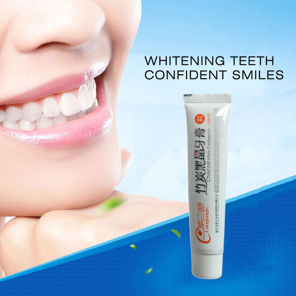 50G Natural Toothpaste Bamboo Charcoal Black Toothpaste Whitening Remove Stain