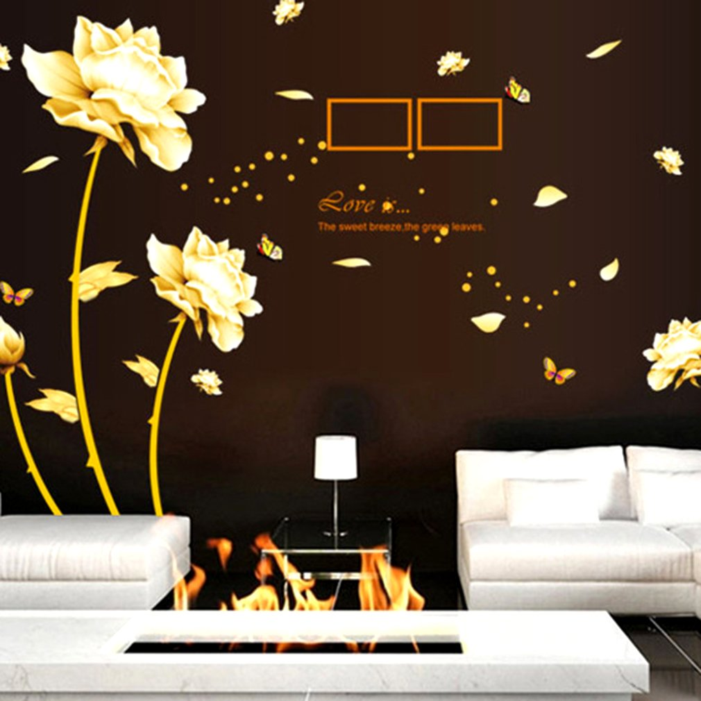 Years Fleeting Theme Room Sofa TV Backdrop Removable Wall Sticker Decora