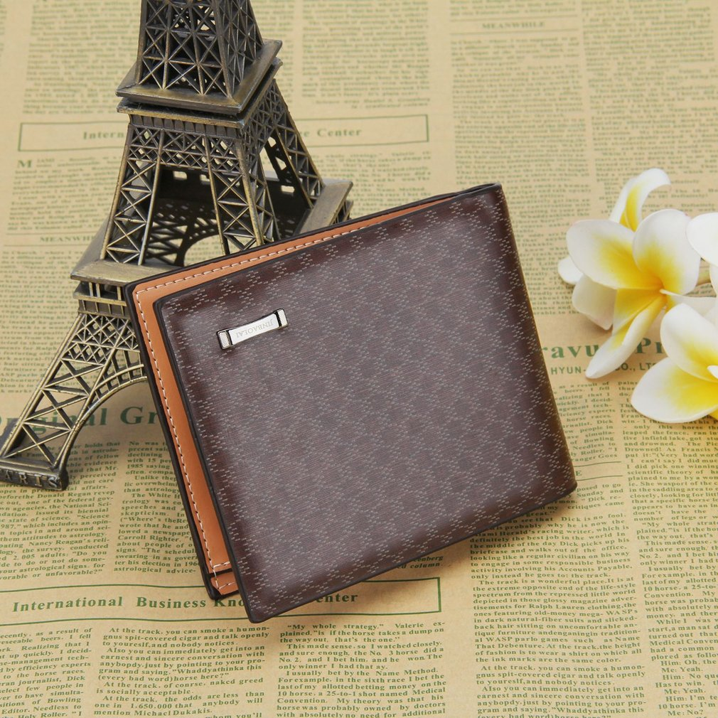 Men's PU Leather Card Wallet, Coffee