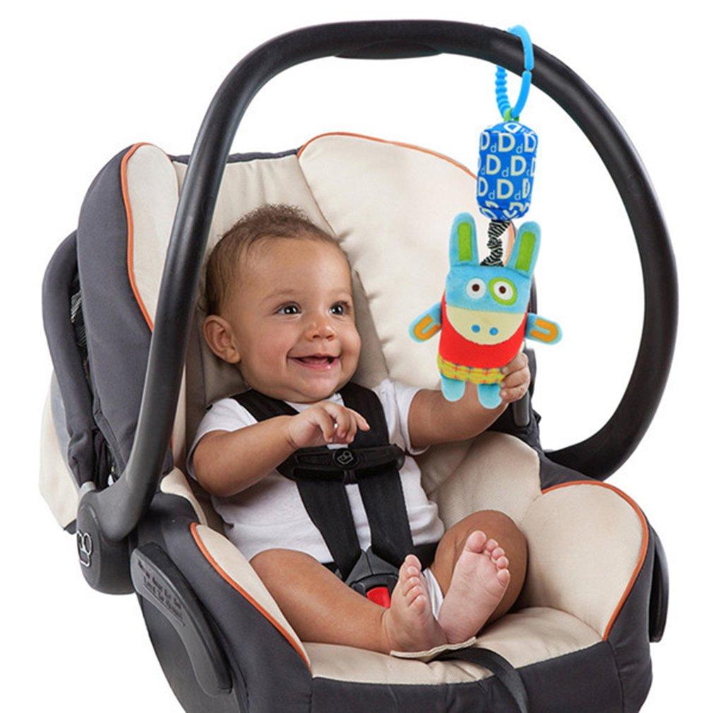 Cartoon Baby Kids Crib Rattle Toys Cute Hand Bell Plush Stroller Hanging Toys