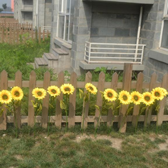 1Pc Home Garden Fence Decoration Fake Flower Vivid Big Artificial Sunflower