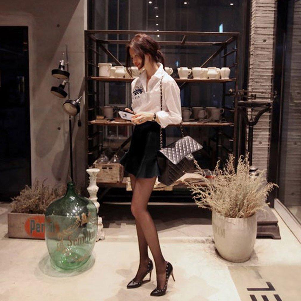 Women Short Skirt Breathable Solid Color Mini Chiffon Skirt High Waist Skirt