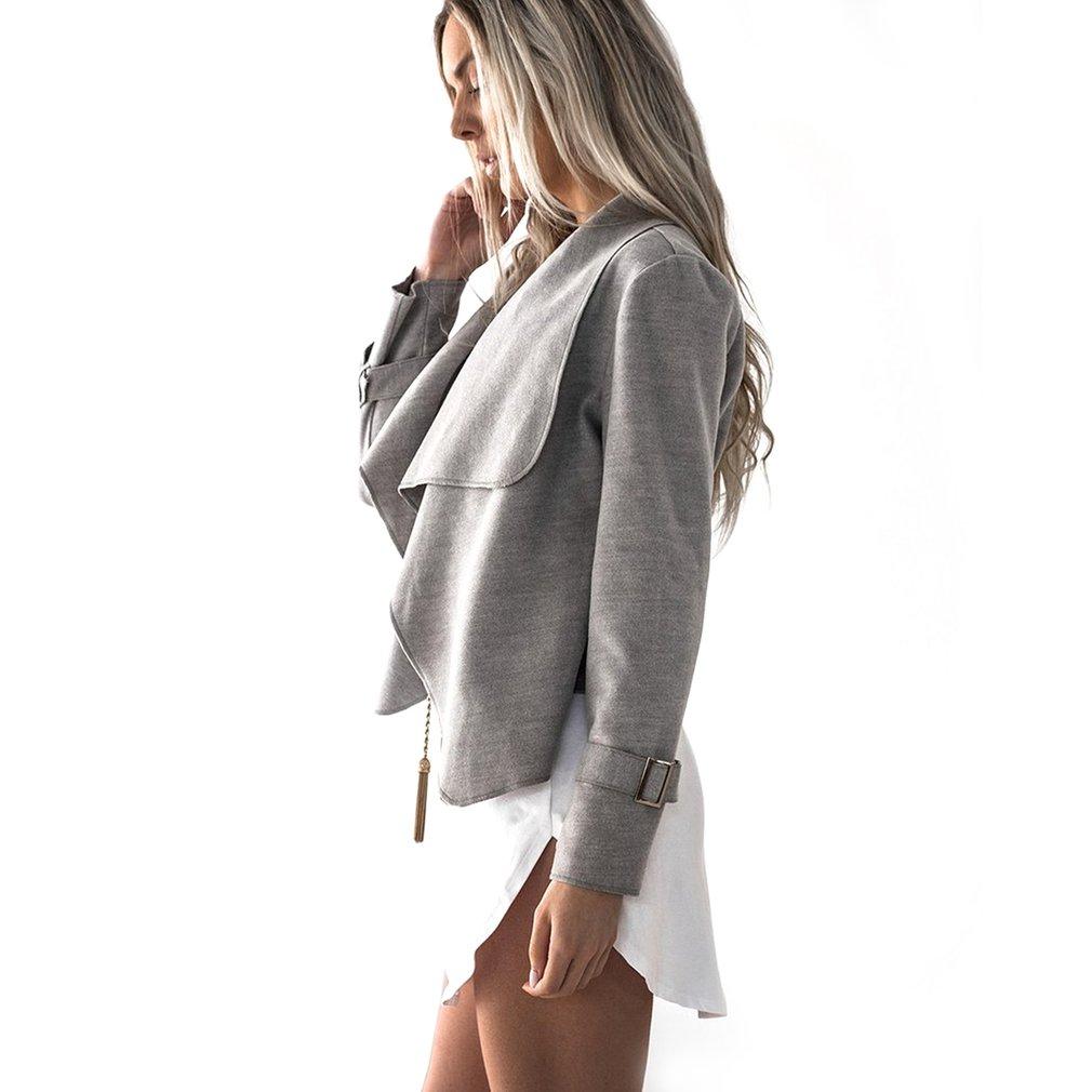 Women Jacket For Autumn And Winter New Fashion Turndown Collar Coat Overcoat