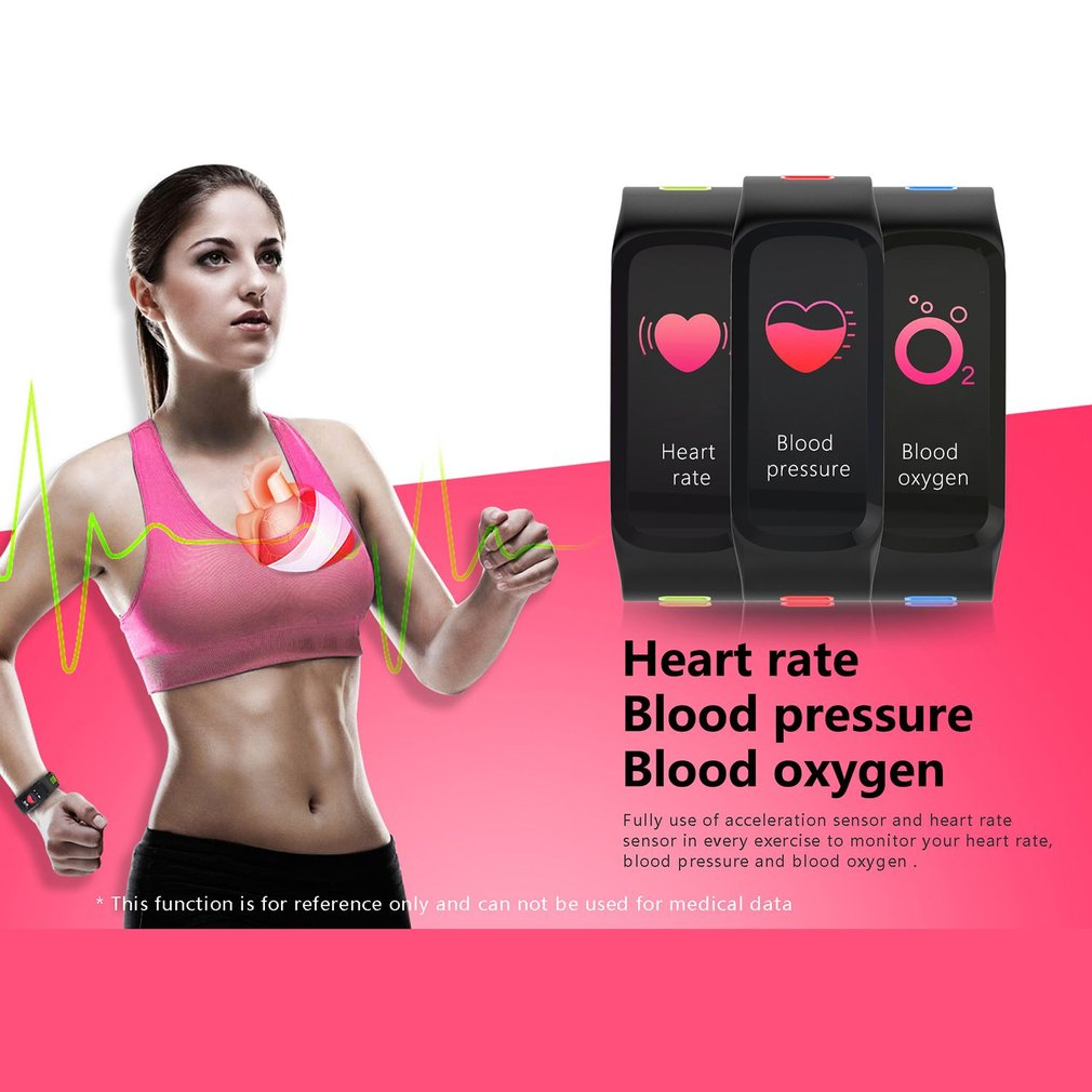 Intelligent Bracelet Measuring Heart Rate Pedometer Waterproof Sport Bracelet