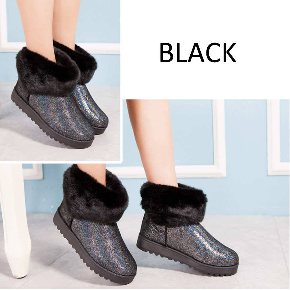 2016 Women Winter Snow Boot Casual Middle Cylinder Girl Cotton Shoes Keep Warm
