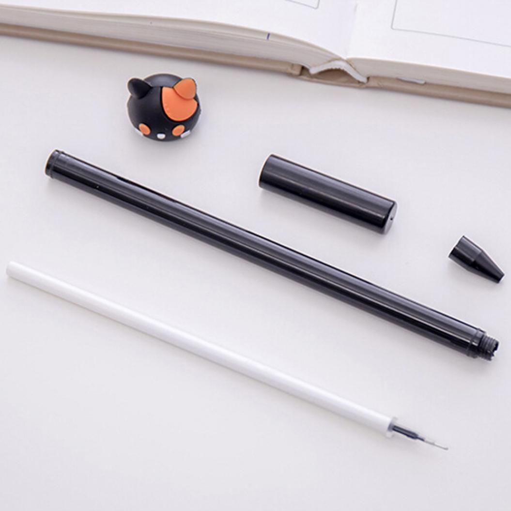 2Pcs Cute Cat Paw Ink Gel Pen Writing Marker Student Office Stationery Gift