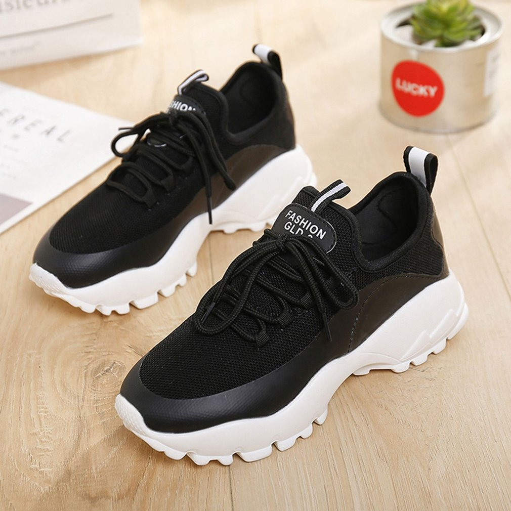 Summer Women Sports Shoes Lightweight Breathable Lace up Athletic Running Fitness Gym Jogging Walking Sneakers