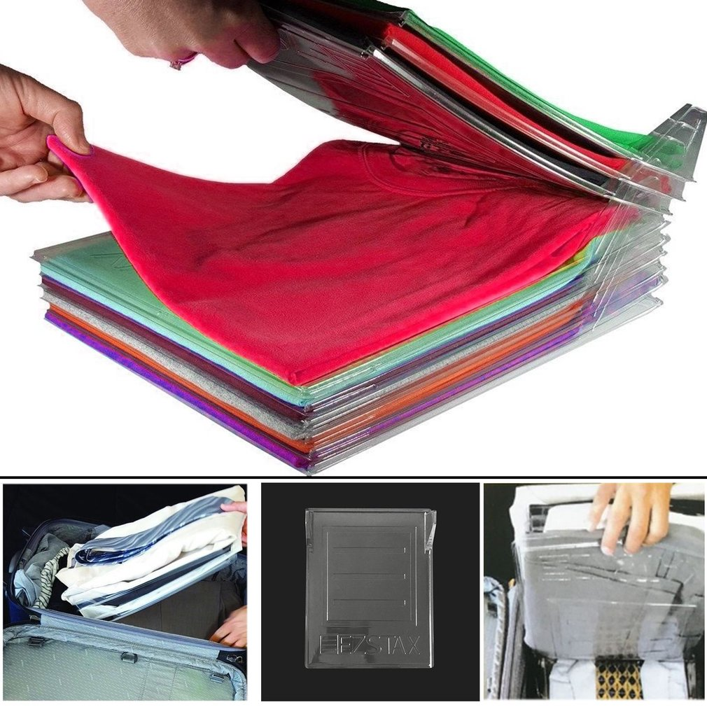 Clothing Organization System Clothes Fold Board Travel Closet Drawer Stack