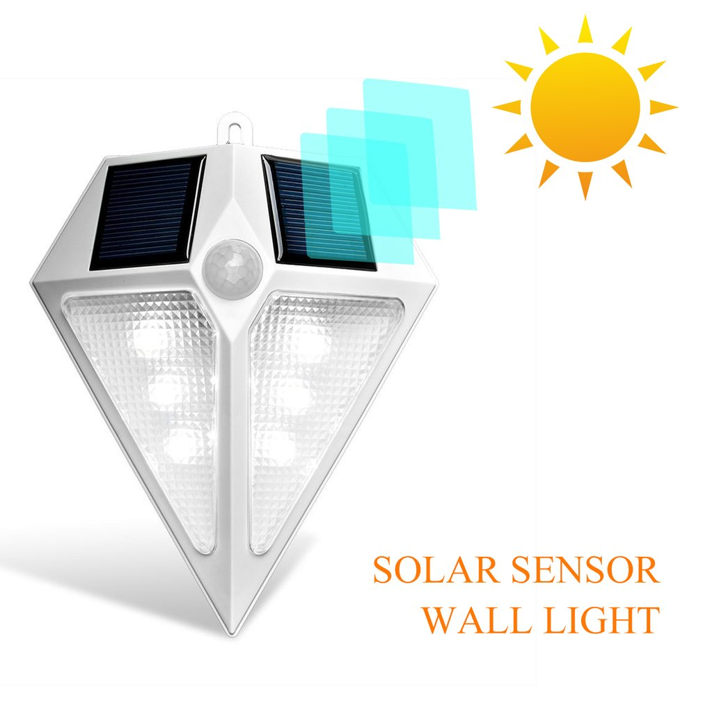 Waterproof Outdoor 6/24 LED Solar Spotlight Wall Light PIR Motion-sensing Lamp