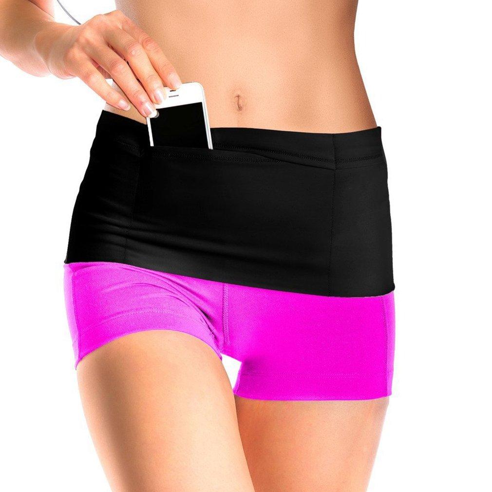 Fitness Waist Belt Travel Money Storage Belt With Pockets Running Belt