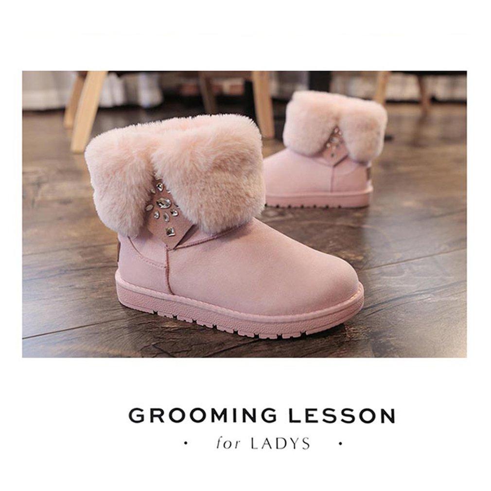 Renben Sweet Snow Boots Plus Velvet Warm Flat Heels Autumn & Winter Footwear