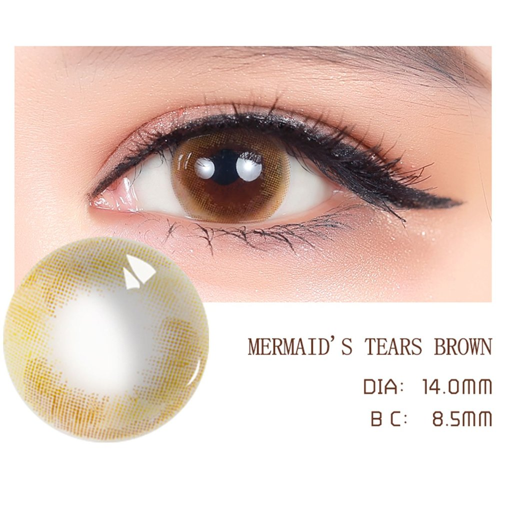 A Pair/SET Universal Women Circle Big Eye Beauty Coloured Contact Lenses