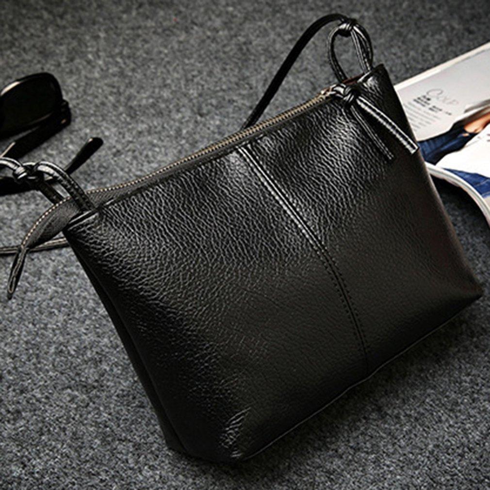 2017 Charming Women Single Shoulder Bag Adjustable Strap Simple Solid Color Soft PU Leather Ladies Crossbody Bag