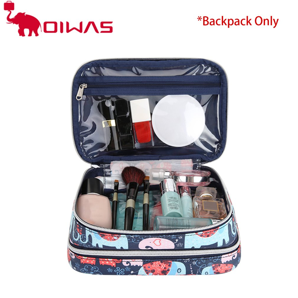 Oiwas Women Floral Printed Makeup Bag Travel Toiletry Wash Pouch Organizer