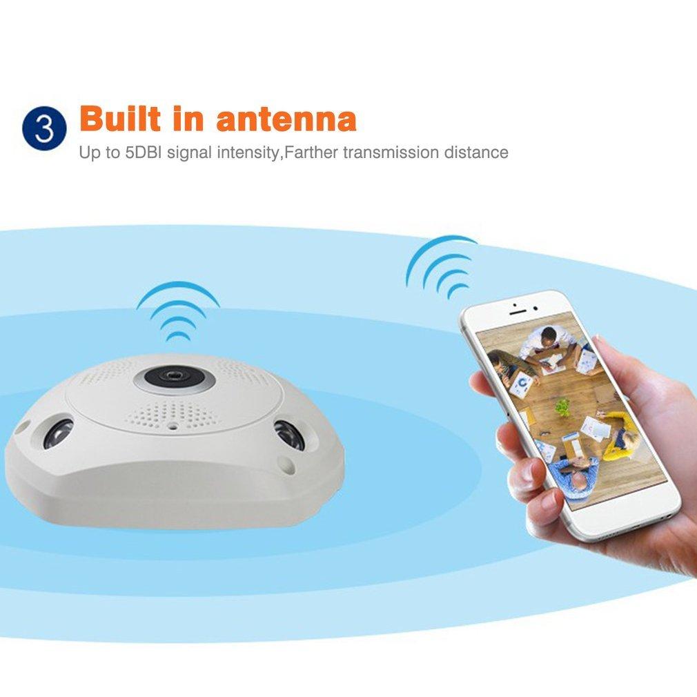 Wireless Panoramic Camera Fisheye Lens 360-Degree HD Camera WIFI IP Camera