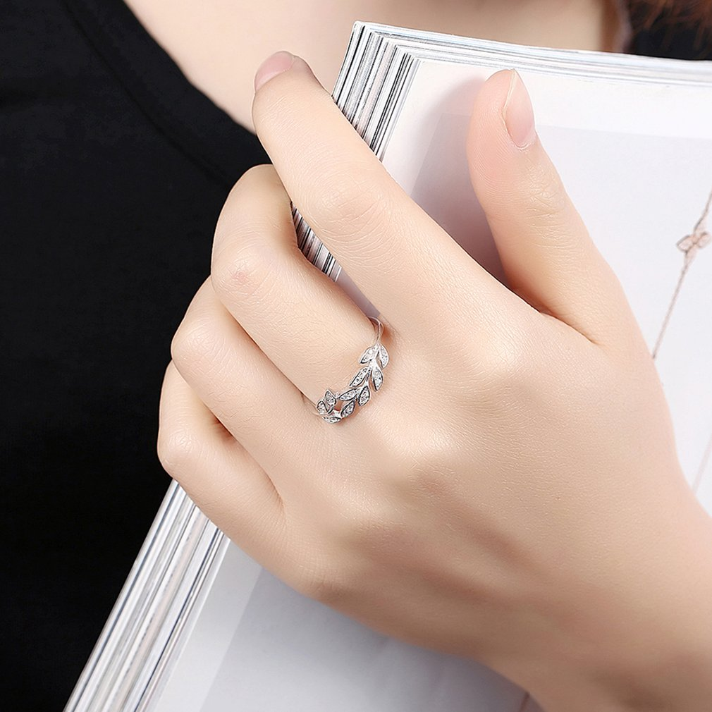 Elegant Women Zircon Rings Three Ring Prong Setting Romantic Finger Ring Party Wedding Rings Female Lady Jewelry Accessories