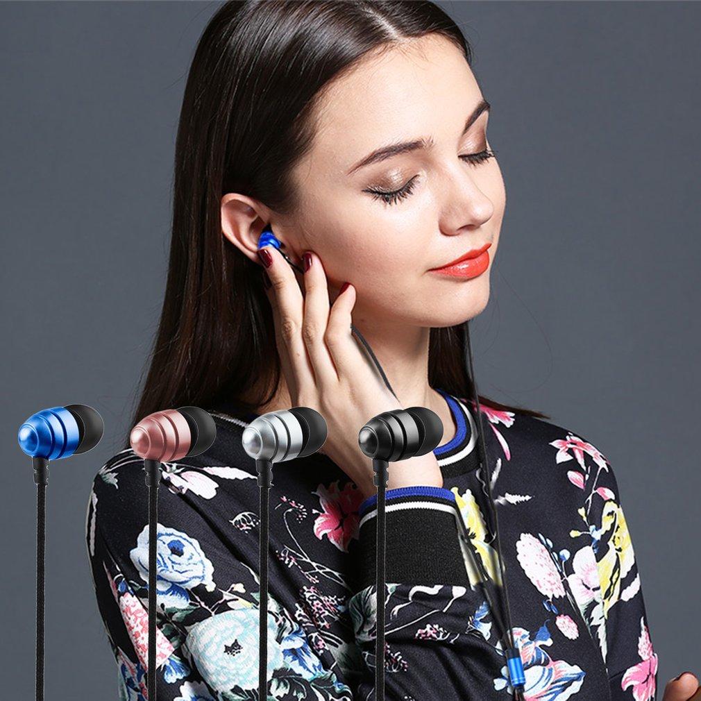 Q2 Fashionable Deisgn Metal 3.5MM Plug Stereo Music Deep Bass In-Ear Earphones