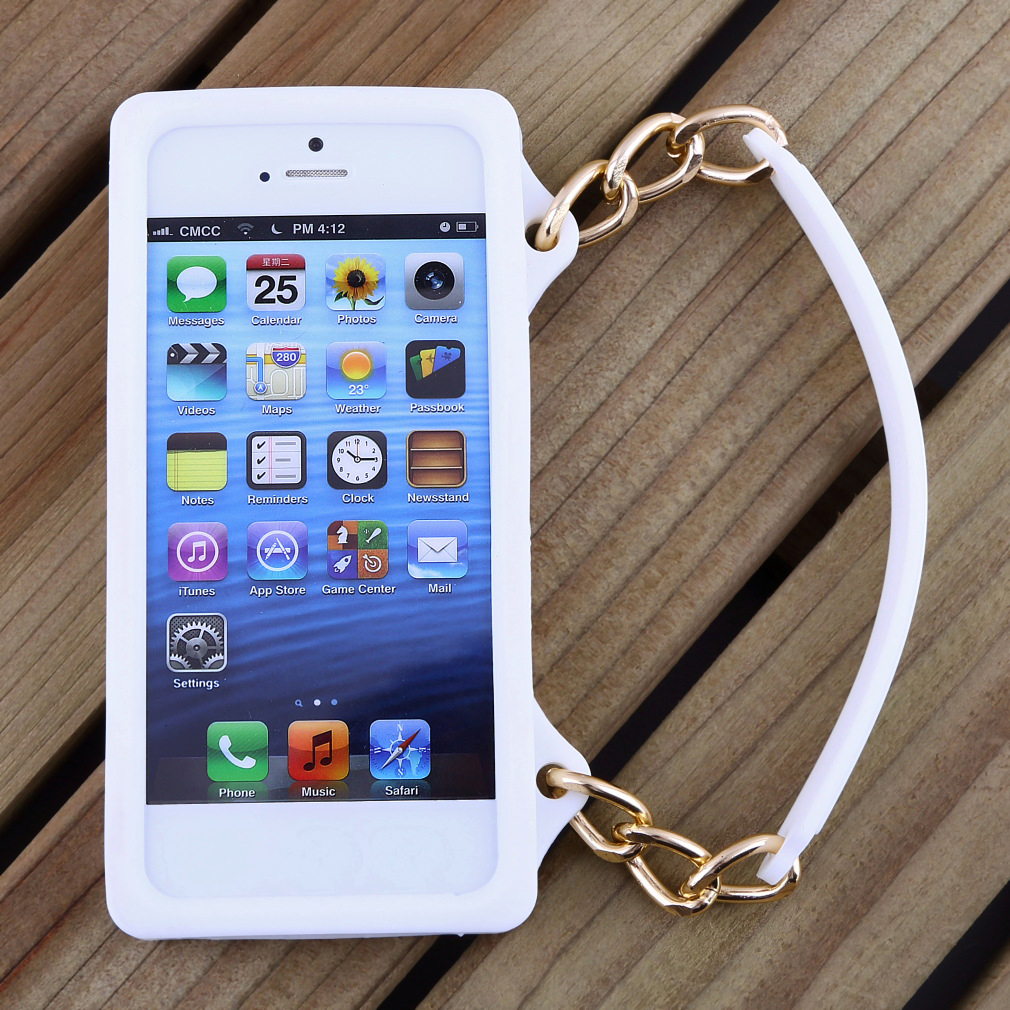 New Fashion Silicone Handbag Style Case Cover for iphone 5 5S