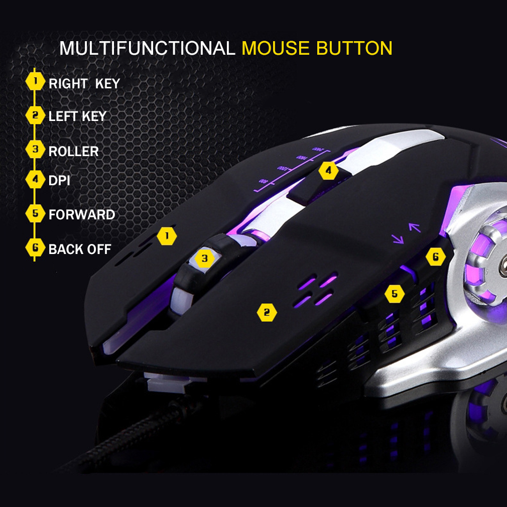 Wired Mouse USB Optical Gaming Mouse Gamer Mice For Laptop Computer Games