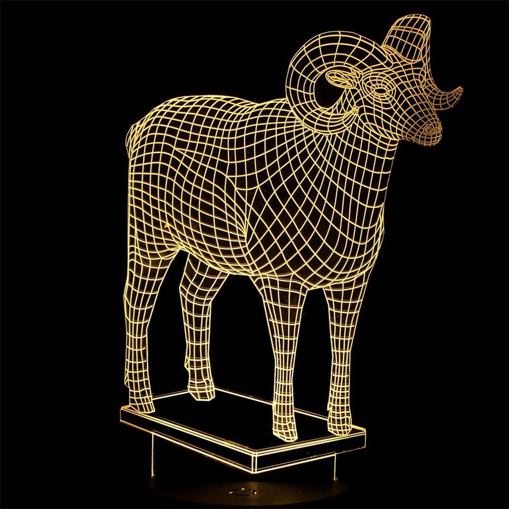 New Creative 3D Cow Designed LED Night Light Table Light Hoom Office Decor