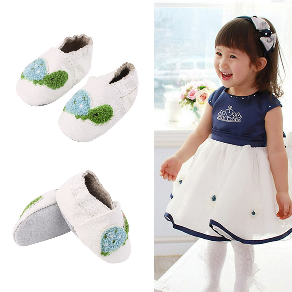 Cute Soft PU Leather Little Turtle Pattern Babies Toddler Shoes