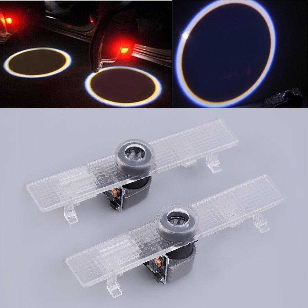 2pcs LED Car Door Light Projector Logo Shadow 3D Welcome Light For Nissan