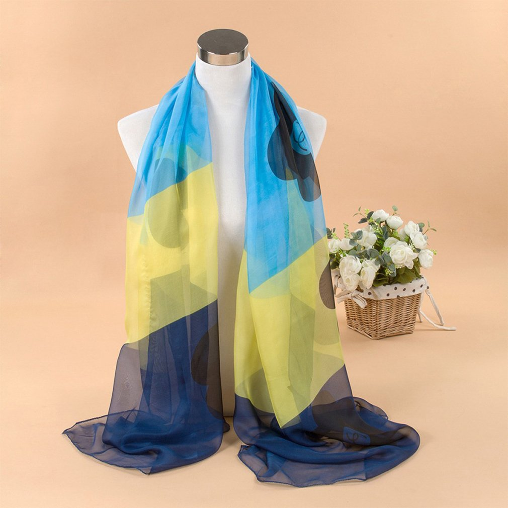 Fashion Summer Simulation Silk Scarves Women Large Beach Towel Sunscreen Shawl