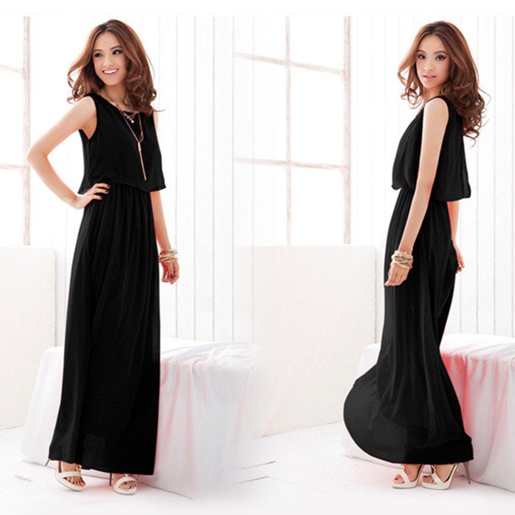 Fashion Women Chiffon Dress Large Size Long Section Bohemian Style Beach Dress