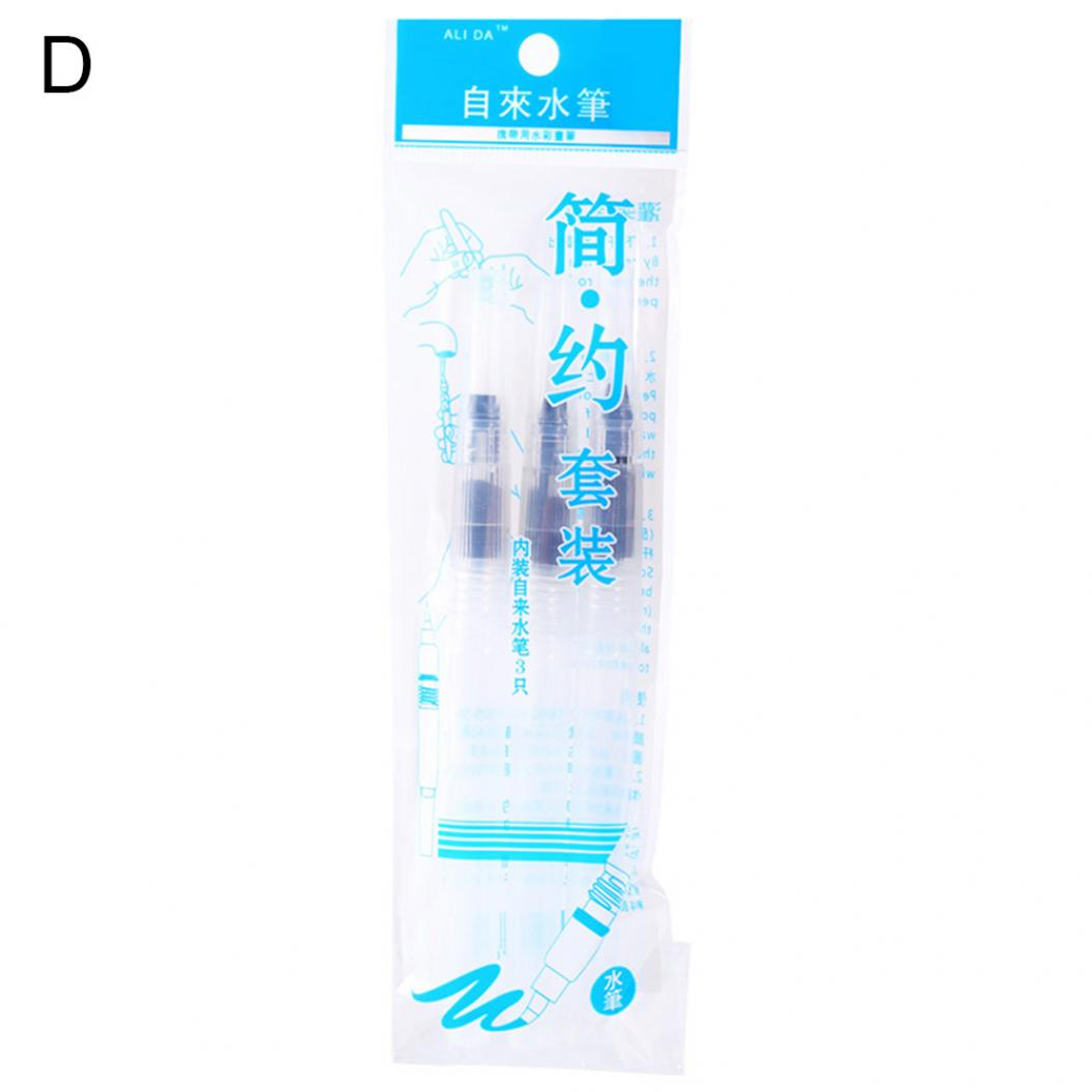 1/3Pcs Refillable Watercolor Brushes Drawing Pen Soft Head Art Painting Supplies