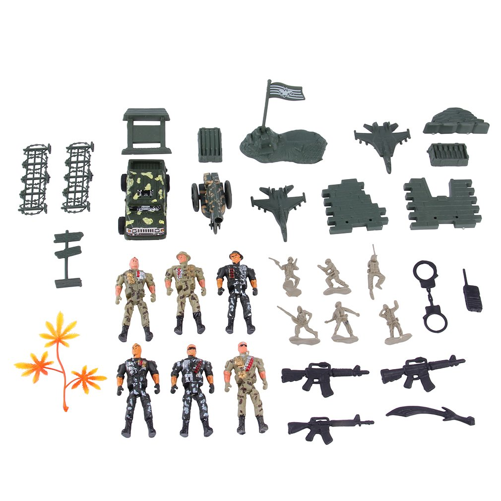 Military Army Combat SWAT Soldier Action Combat Scene Model children Toy