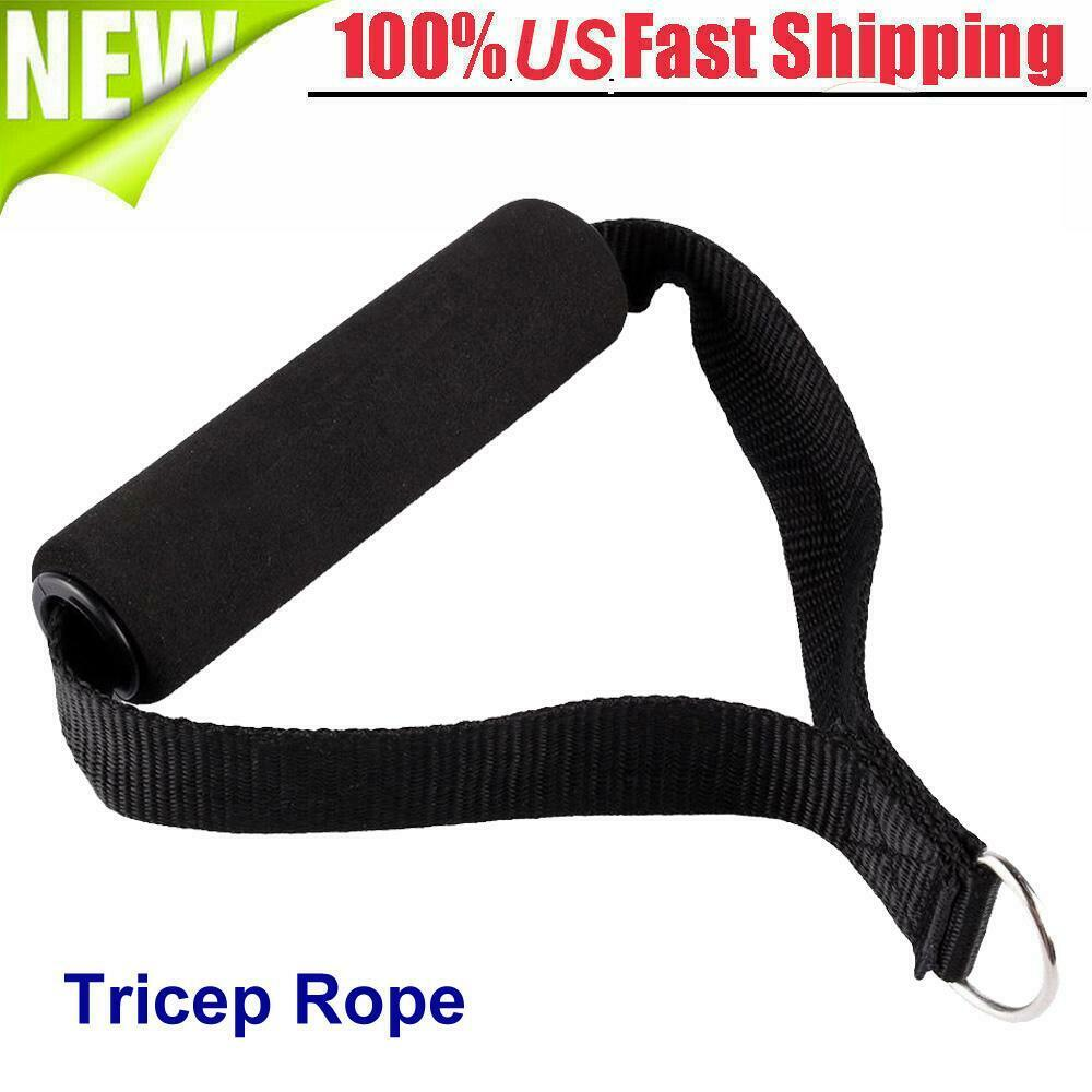 Gym Attachment Tricep Rope Handle Pull down Bar Dip Station Resistance Band Exercise