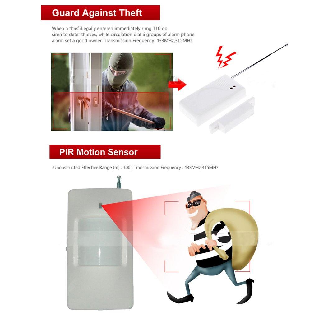 Wireless GSM Home Security Safety Burglar Alarm System Auto Dialler 433MHz